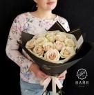 Букет с розами «Мокка»