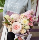 Букет с пионовидными розами «Принцесса Сакура»