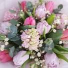 Букет из гиацинтов и тюльпанов «la belle»