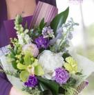 Оригинальный букет «Фиолетовый взгляд»
