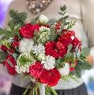 Букет невесты «Зимняя вишня»