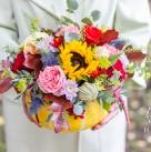 Цветочная композиция в тыкве «Сладкий октябрь»